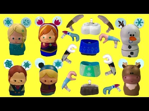 Disney Frozen Elsa Anna Olaf Sven Have Wrong Arms and Legs! Help Match Body Parts!