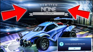 Rocket League Crate Openings Are *BROKEN*