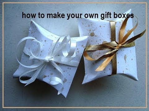 HOW TO MAKE YOUR OWN GIFT BOXES, how to diy, paper box, cardstock box