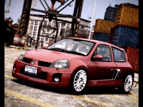 renault clio v6 turbo gta iv graphic mod max settings hd youtube. Black Bedroom Furniture Sets. Home Design Ideas