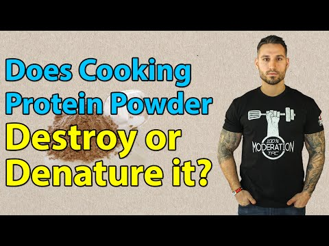 Does Cooking Protein Powder Destroy or Denature It?