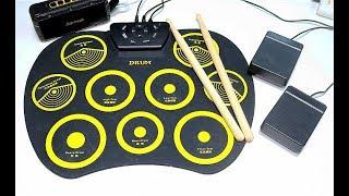 Электронная Барабанная установка удивительная, занимательная новинка Roll Up Drum