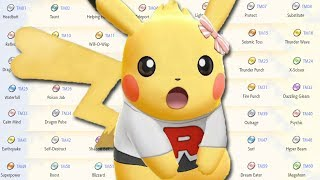 All 60 TMs in Pokemon Let's Go & Where To Find Them!
