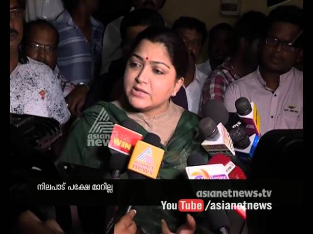 Khushboo Tamil Actress extend support to JNU students