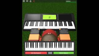Happy Birthday on a ROBLOX piano.