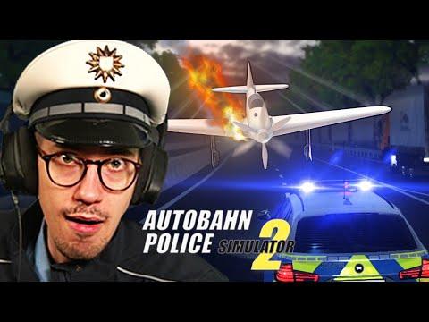 Flugzeug Notlandung! ✈️🔥   Autobahn Polizei Simulator 2