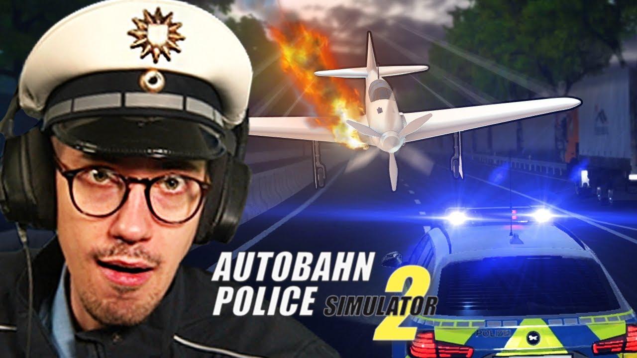 Flugzeug Notlandung! ✈️🔥 | Autobahn Polizei Simulator 2