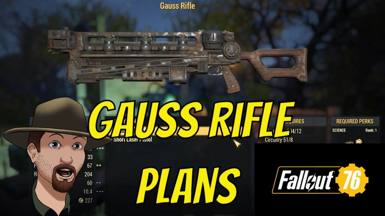 Fallout 76- Where To Get The Gauss Rifle Plans and Testing Damage!