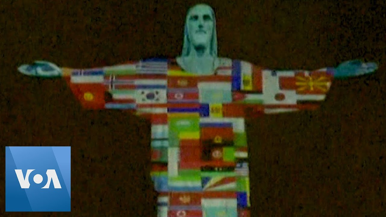 Rio's Christ the Redeemer Pays Tribute to COVID-19 Affected Countries