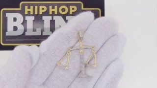 Diamond Hanging Scale Hip Hop Pendant | .29 Carats Bling Bling