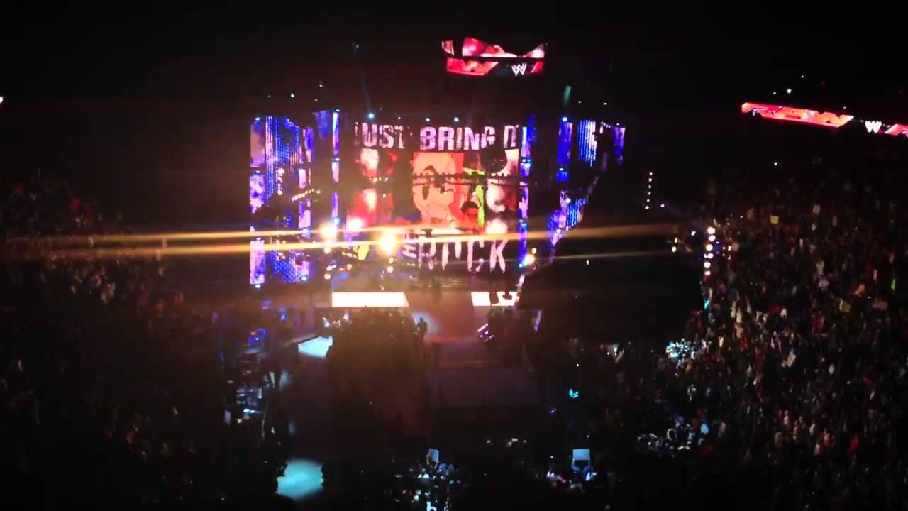 WWE RAW The Rock 1/28/2013 Las Vegas - YouTube