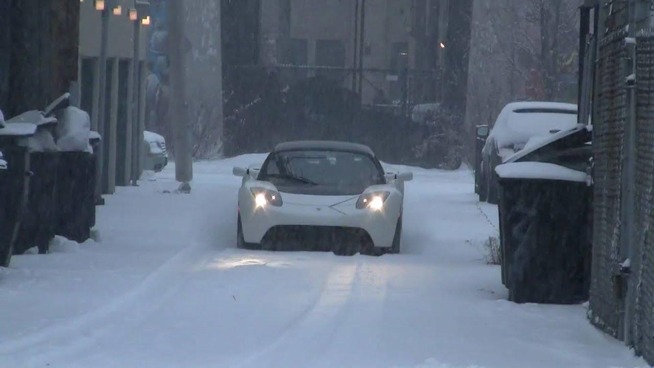 Tesla Roadster Road Trip in Chicago