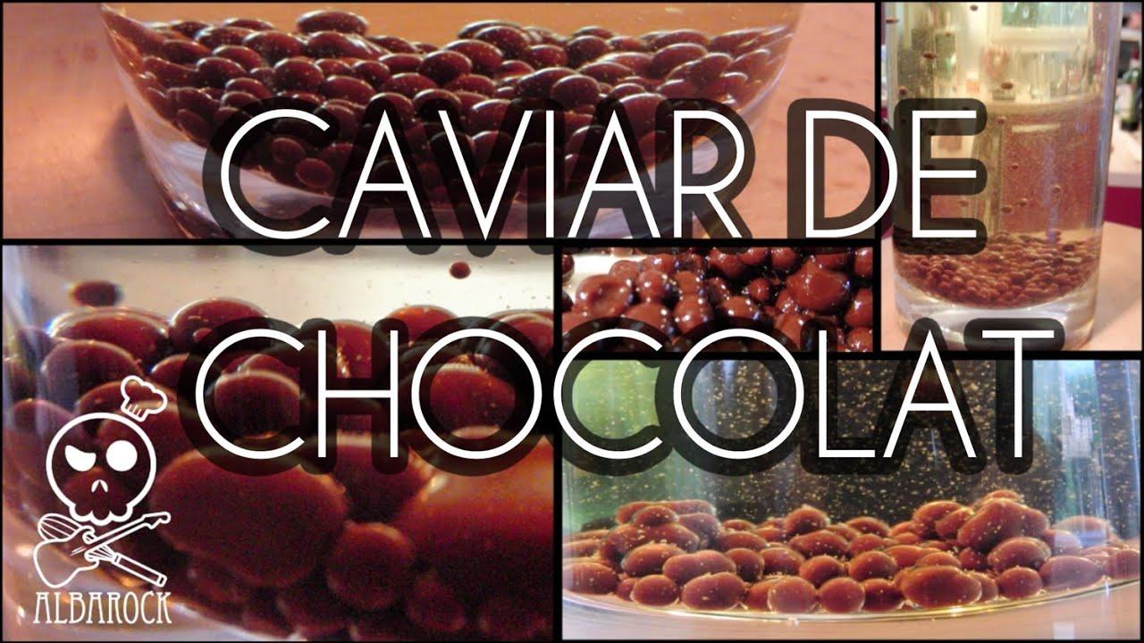 Caviar de chocolat cuisine mol culaire recette facile for Cuisine moleculaire