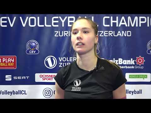 Alexandra Lazic of Volero ZÜRICH on the prospects of facing VakifBank ISTANBUL in the Playoffs