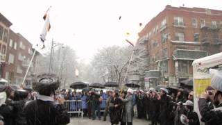 Thousands of Jews Burning Israeli Flag in Williamsburg Brooklyn NY 03/05/15