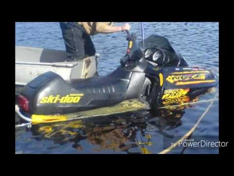 Snowmobile sinks/fails