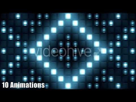 Strobe Lights Flashing VJ Pack Motion Graphics Background Box Bulb