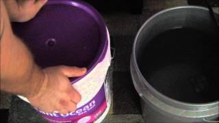 Vorgehensweise: Mischen von Salzwasser für Anfänger   Salzwasser-Behälter
