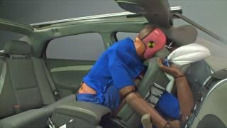 IIHS unbelted rear-seat passenger crash test