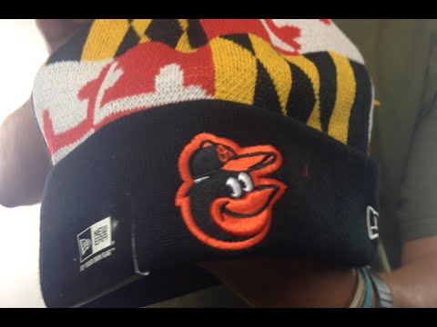 30ca71246 Orioles 'MARYLAND-FLAG' Knit Beanie Hat by New Era