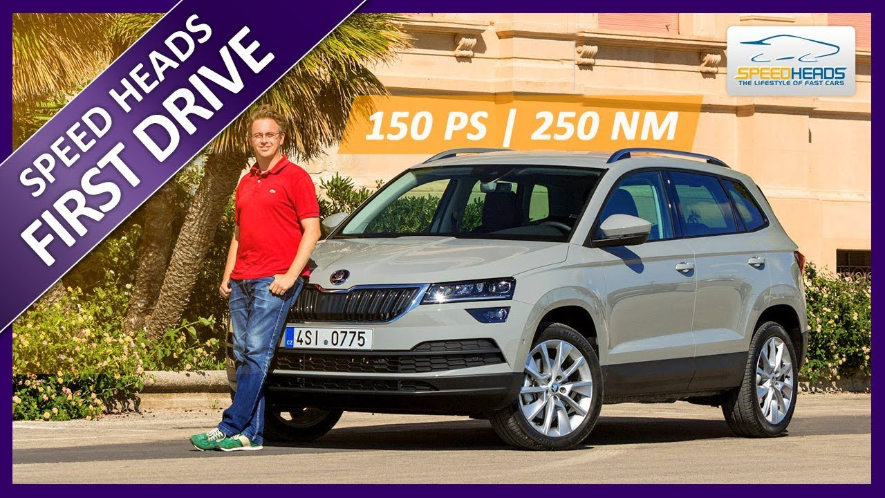 2018 skoda karoq test 1 5 tsi mit 150 ps fahrbericht review speed heads youtube