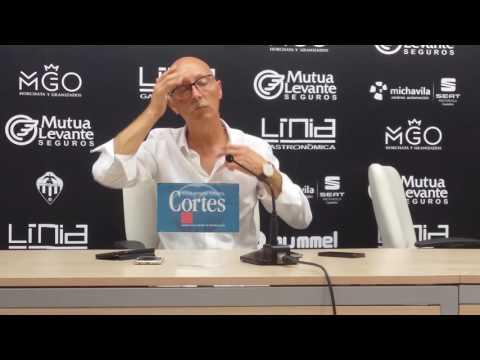 Declaraciones de Frank Castelló tras el empate a 0 ante el Alzira