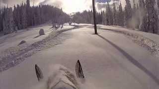 Bluebird Tuesday - Deep Powder Snowmobiling in BC