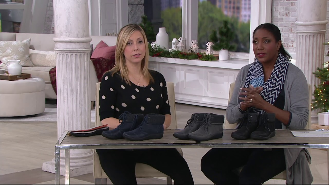 f8dae758d CLOUDSTEPPERS by Clarks Lace-up Ankle Boots - Sillian Frey on QVC ...