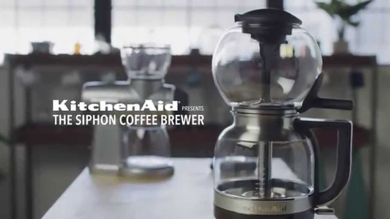 presenting the siphon coffee brewer kitchenaid