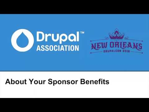 "DrupalCon New Orleans 2016: ""About Your Sponsorship"""