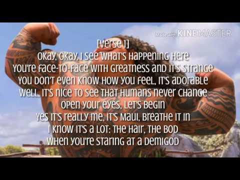 Dwayne Johnson - You're Welcome Lyrics