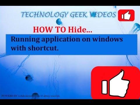 Hide program from taskbar windows 10