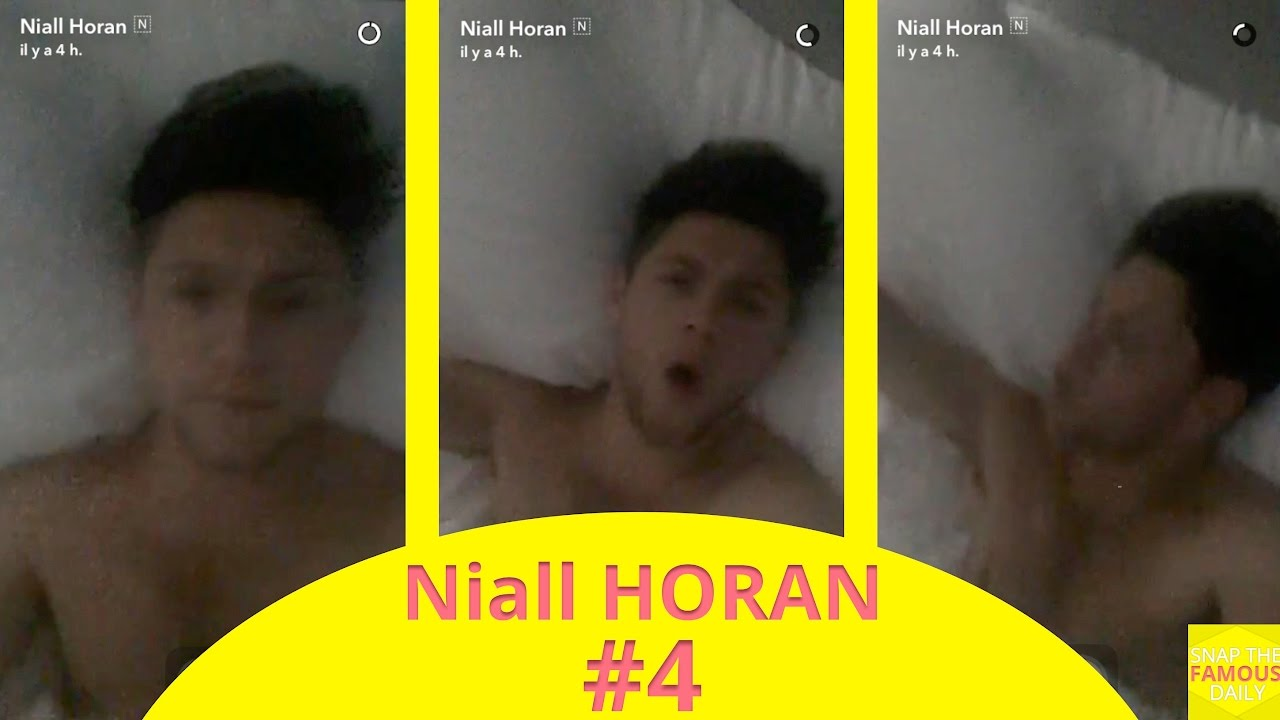 Niall Horan Shirtless In Bed On Snapchat Youtube