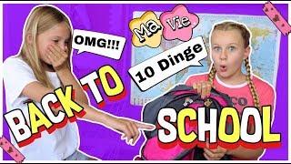 10 DINGE DIE IHR GEMACHT HABEN MÜSST BEVOR DIE SCHULE ANFÄNGT | MaVie Back to school