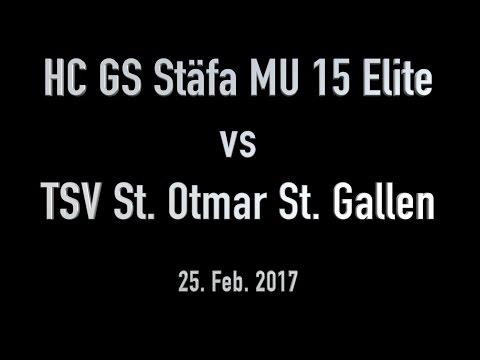 HC GS Stäfa MU 15 Elite vs TSV St  Otmar St. Gallen   25. Feb. 2017