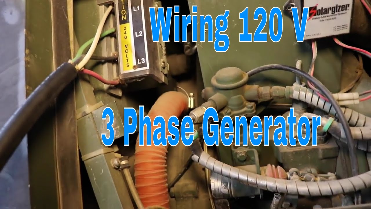 Wiring 120 V On A 3 Phase Generator Youtube Wind Turbine Diagram Get Free Image About