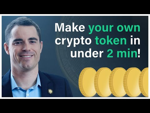 How to make your own crypto currency token in less than two minutes!