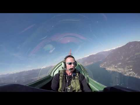 Aerobatic flight over South Switzerland (Ticino)