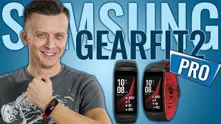 видео Фитнес-браслет Samsung Gear Fit2 Pro (L), Чёрно-красный
