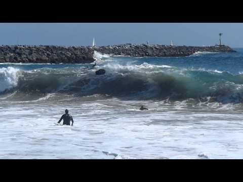Newport Beach, CA, Wedge Surf 4ft - 7ft, 3/24/2013