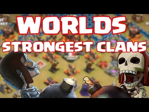 Clash Of Clans - WORLDS STRONGEST CLANS (Leaderboard Clans At War)