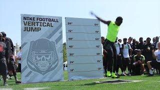 Watch Josh Imatorbhebhe's 47.1 inch vertical jump