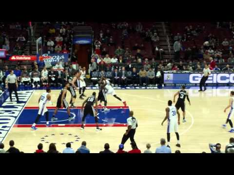 Final Minute of Spurs vs Sixers in 4K (Record Breaking Game) 12/7/15