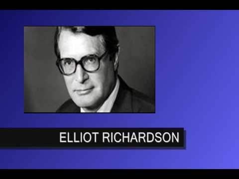 THE FACES OF WATERGATE  ...  Elliot Richardson