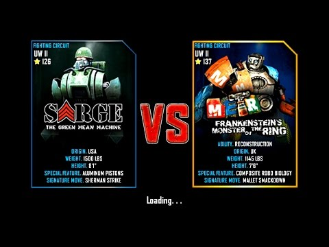 Real Steel WRB Final Underworld II Sarge VS Metro (champion) NEW UPDATE (Живая Сталь)