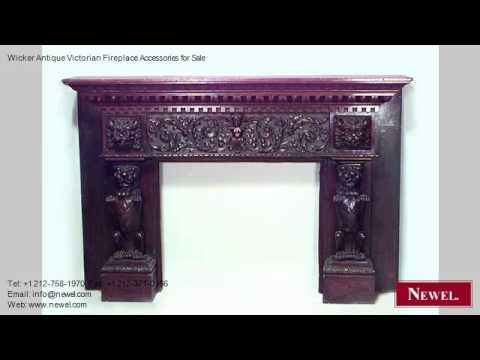 Wicker Antique Victorian Fireplace Accessories for Sale