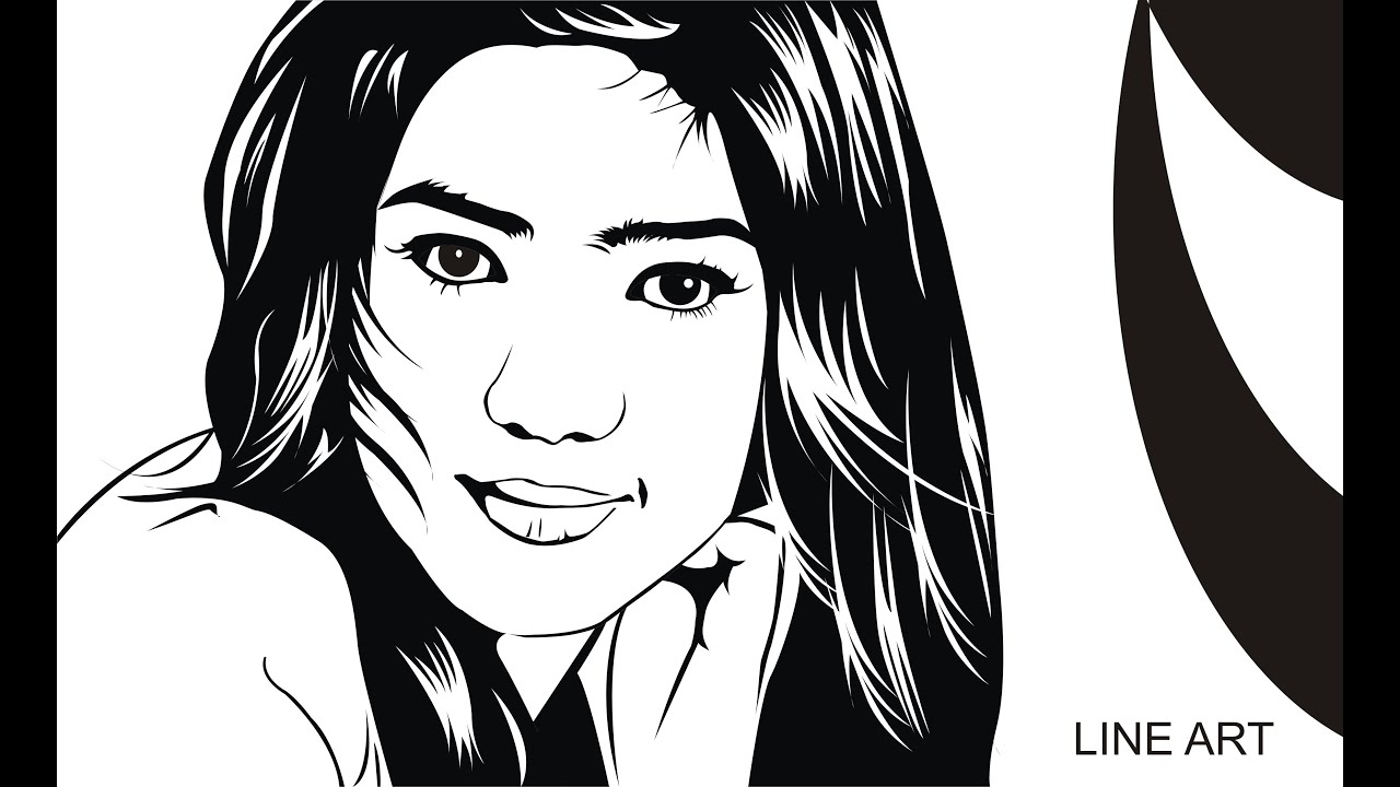 Line Art Portrait : Coreldraw tutorial line art chapter is youtube