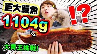 【突破胃腸😱】1KG超巨大鰻魚🧜🏻♀️!😱單人挑戰能吃完嗎?(中字)