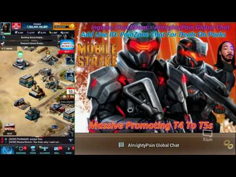 Mobile Strike Ep 379 Massive T5s Promotion From T4 To T5s Made 540 Million T5 Troops