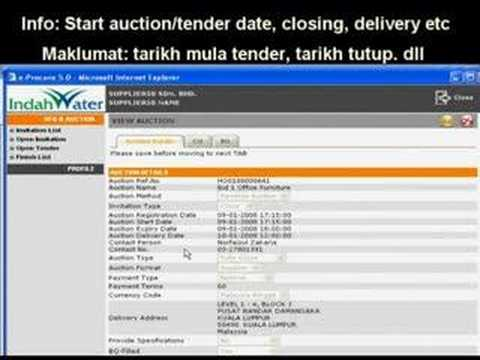 IWK eProcurement - supplier 4 - Bid 1